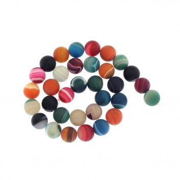 Matte agate beads, mix of...