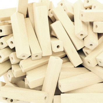 Wooden cube beads 10x50mm...