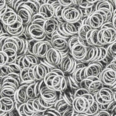 Ogniwka do chainmaille stal chirurgiczna 8x1mm 100szt SMKSC0810C