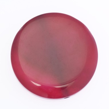 Pink agate / coin 40mm /...