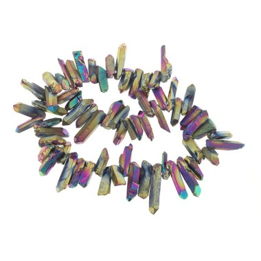 Titanium quartz faceted...