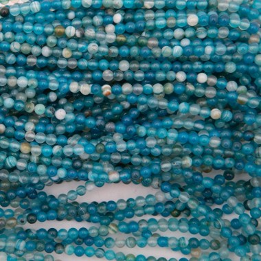 Turquoise agate / 4mm beads...